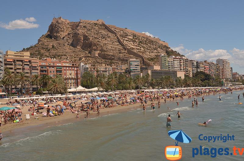Alicante et sa plage du centre ville