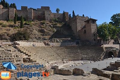 Amphithéâtre de Malaga en Andalousie