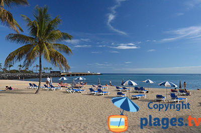 Beach in Arrecife in Lanzarote - Canary islands