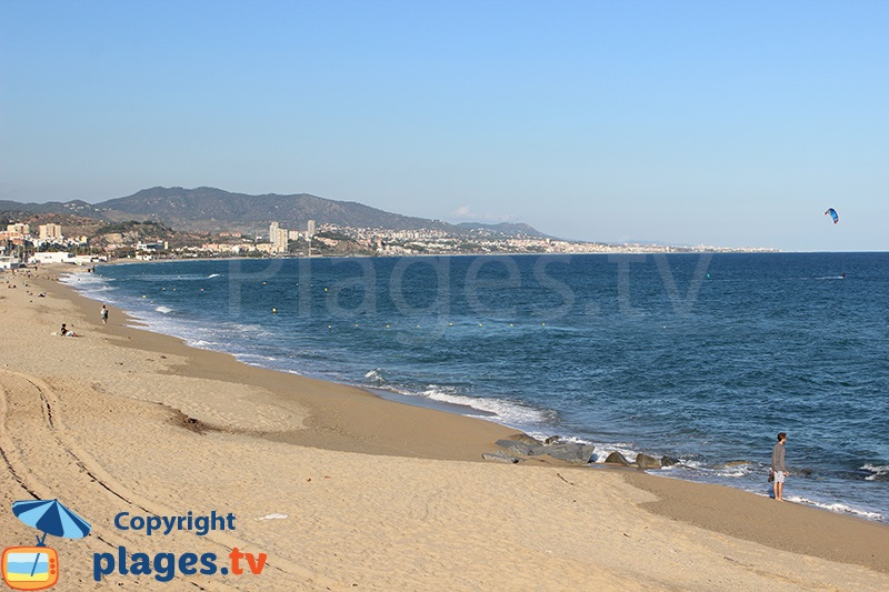 Badalona et sa plage