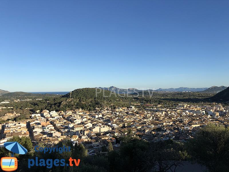 Baie nord de Majorque depuis Pollença