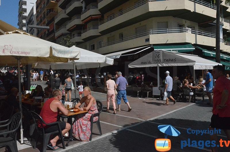 Bars et restaurants à tapas sur le front de mer de Marbella
