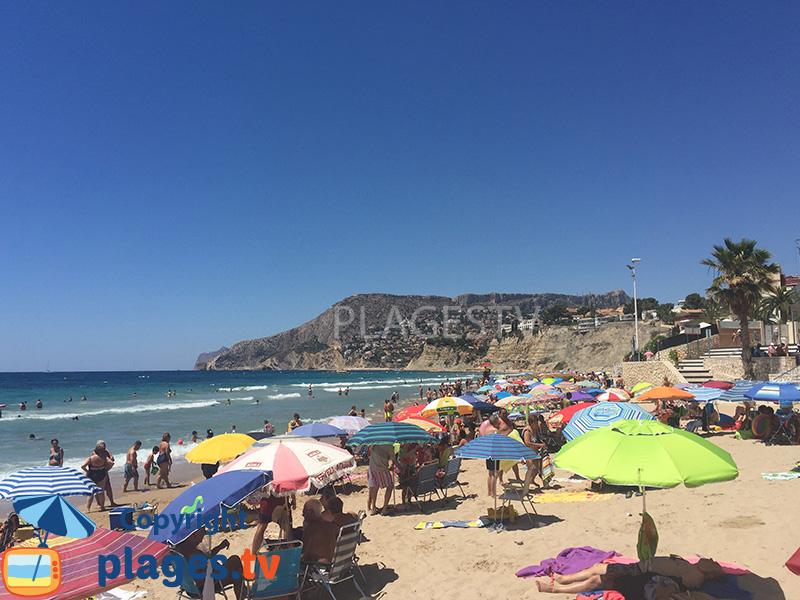 Belle plage à Calpe en Espagne