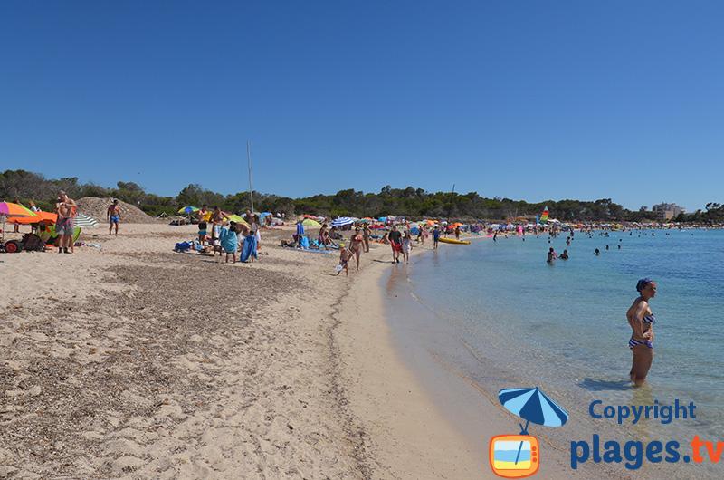 Belle plage au sud est de Majorque à Colonia de Sant Jordi