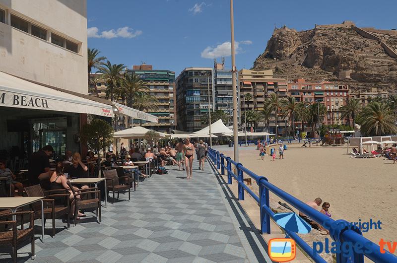 Bord de mer d'Alicante