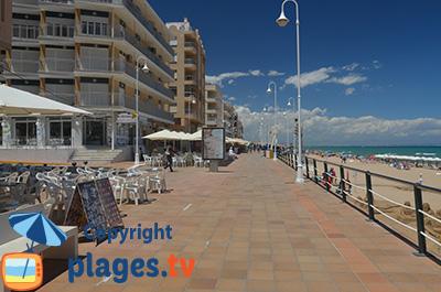 Bord de mer de Guardamar au sud d'Alicante - Espagne