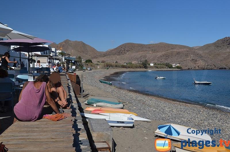 Bord de mer de Las Negras avec sa plage