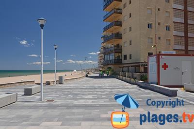 Bord de mer de Mareny Blau en Espagne
