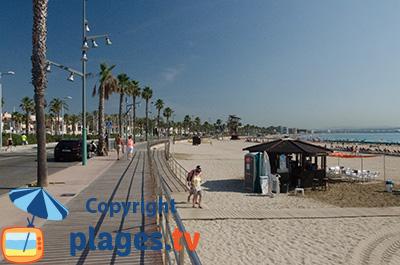 Bord de mer de La Pineda de Salou en Espagne