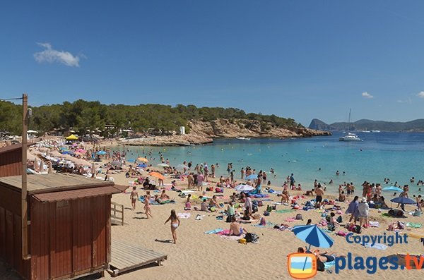 plage de Cala Bassa à Ibiza