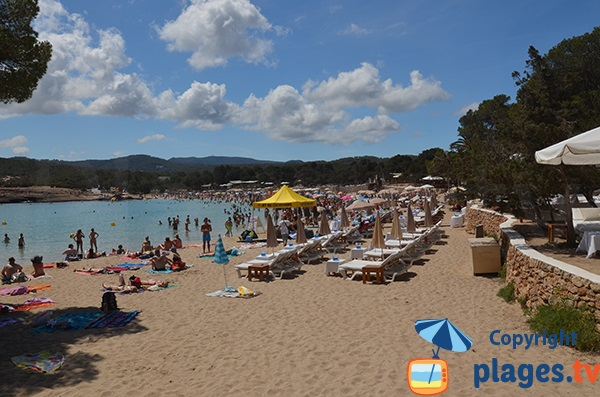 Location de chaises longues à Cala Bassa - Ibiza