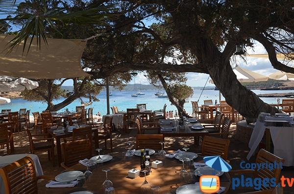 Restaurant ombragée à Cala Bassa - Ibiza