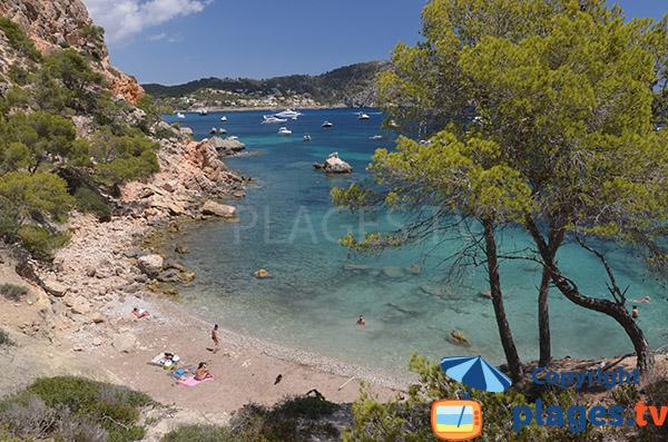 Plage de Cala Blanca - Majorque - crique naturiste