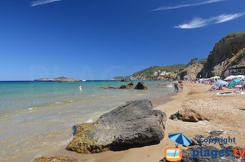 Belle plage à Ibiza - Aigua Blanca