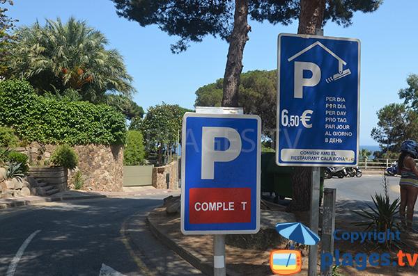 Parking payant de la crique de St Francesc - Blanes