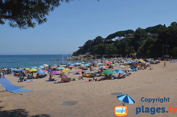 Photo de la plage de la Cala de St Francesc à Blanes - Espagne