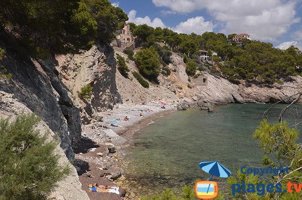 Photo de la plage dans la Cala Cranc à Majorque - Camp de Mar