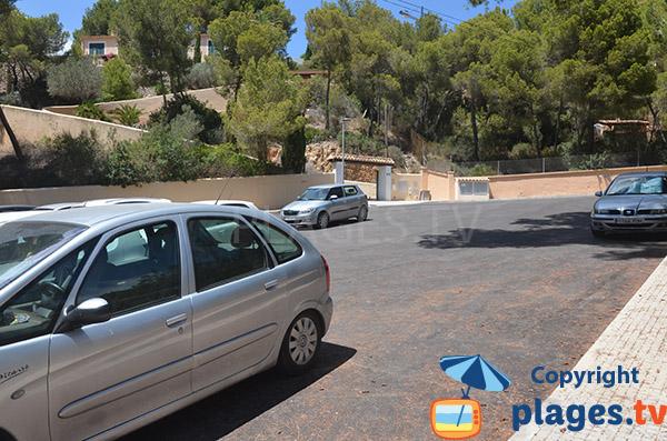 Parking de la plage Cala Cranc à Camp de Mar