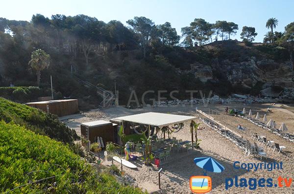Bar de plage sur la crique de Cala Crancs - Salou