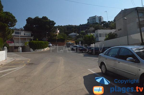 Parking de la crique de Cala Crancs - Salou