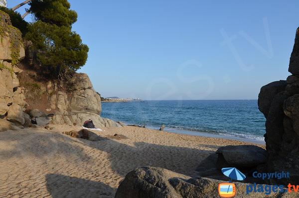 Crique sur le sentier de ronde de Sant Antoni de Calonge sur la Costa Brava