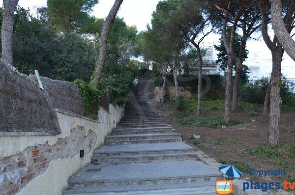 Escaliers pour la cala de Cristus à Sant Antoni de Calonge