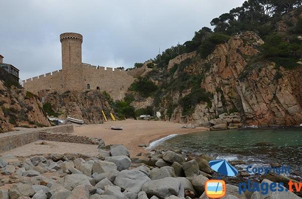 Sentier de ronde depuis la plage d'Es Codolar - Tossa de Mar