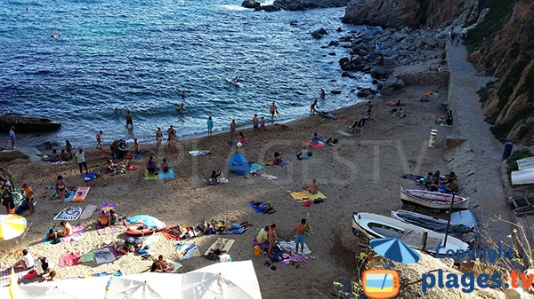 Photo de la plage d'Es Codolar - Tossa de Mar