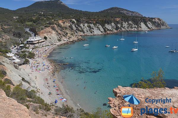 Accès à la Cala Hort à Ibiza