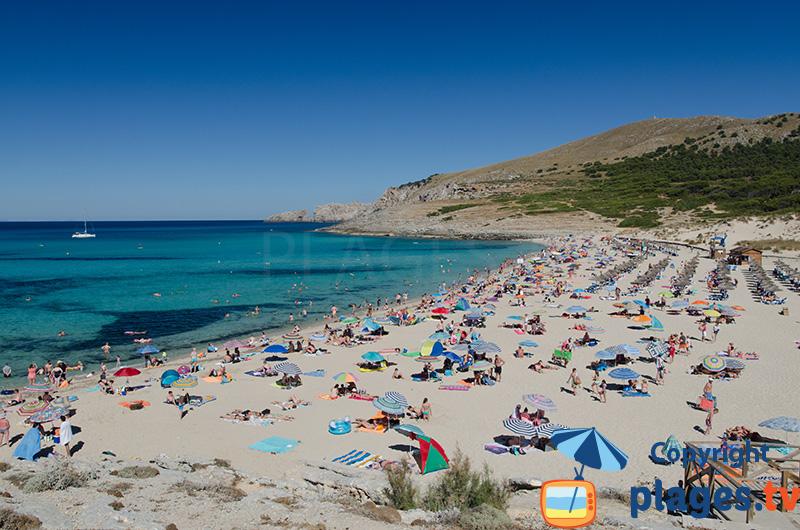 Playa de Cala Mesquida à Majorque