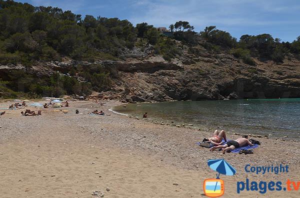 Plage de Moli à Ibiza
