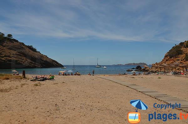 Photo de la plage Cala Moli à Ibiza