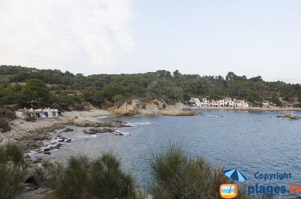 Photo de la cala de S'Alguer à Palamos en Espagne