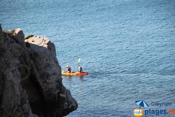 Kayak à l'Escala