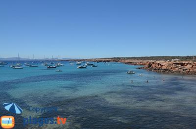 Côte ouest de Formentera - Cala Saona