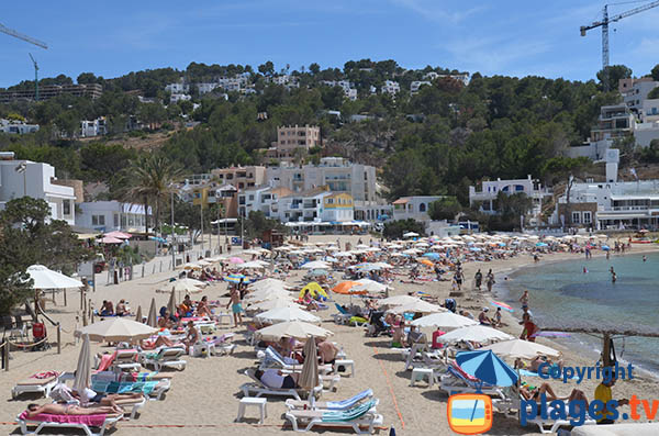 Grande plage de Vadella à Ibiza
