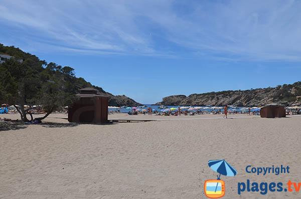 Plage de Vadella à Ibiza