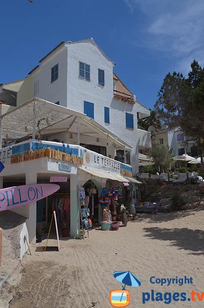 Commerces dans la Cala Vadella - Ibiza