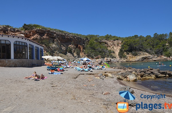 Photo de la plage de Xarraca dans le nord d'Ibiza
