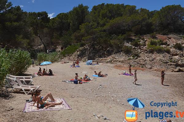 Plage de Xuclar à la sortie de Portinatx - Ibiza
