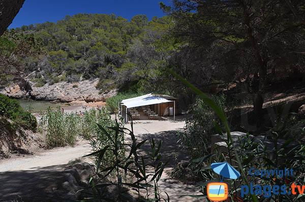 Cala Xuclar à Ibiza à proximité de Portinatx