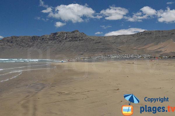 Famara et sa plage - Lanzarote