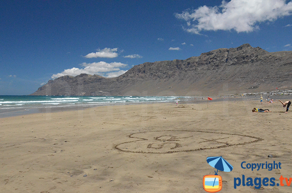Large beach of Famara - Canary islands