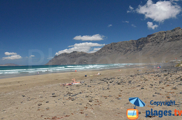 Photo de la plage de Famara à Lanzarote