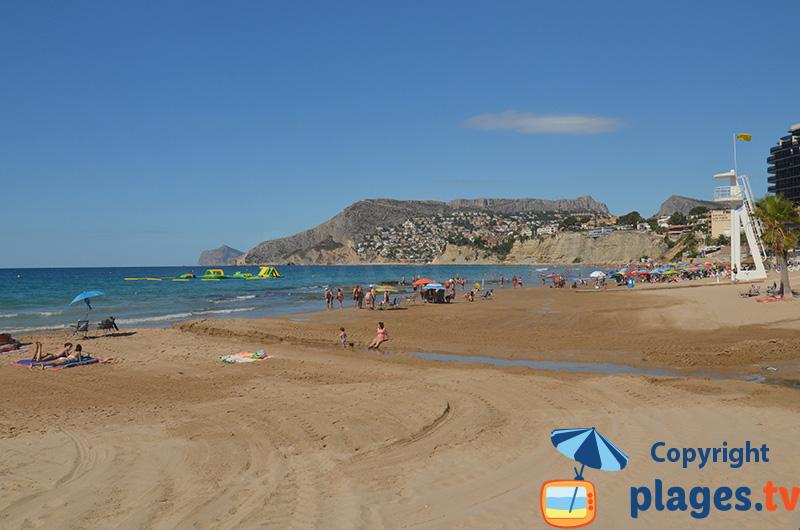 Playa Arenal à Calpe en Espagne