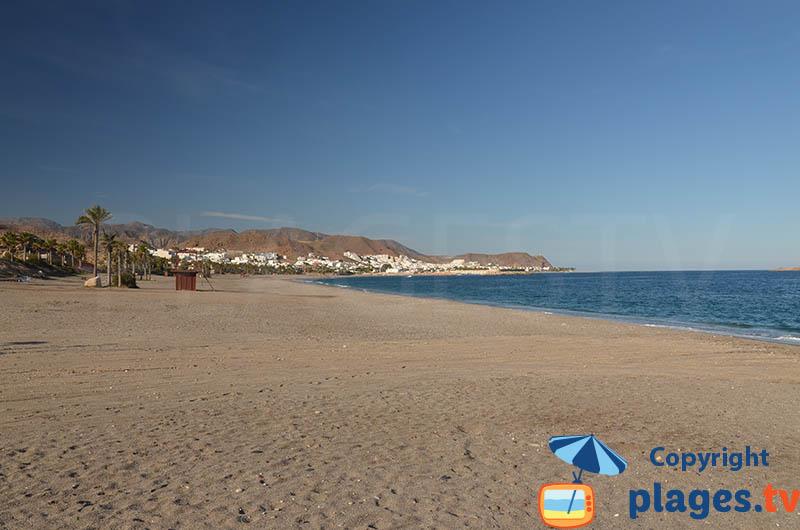 Carboneras depuis la plage - Andalousie