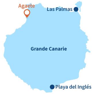 Localisation d'Agaete et de Puerto de Las Nieves à Gran Canaria