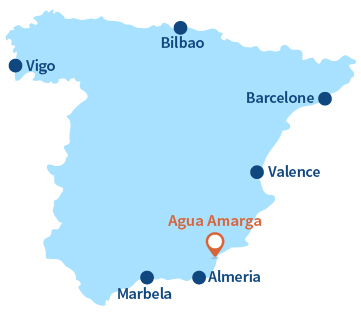 Localisation d'Agua Amarga en Andalousie