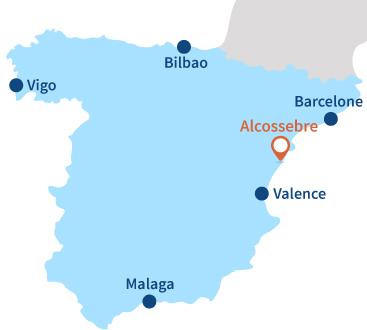 Localisation d'Alcossebre en Espagne