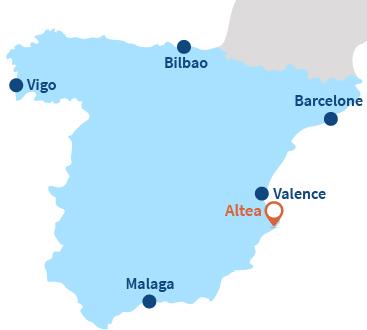 Où se trouve Altea en Espagne